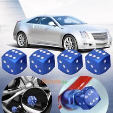 4pcs Aluminum Alloy Dice Style Car Tire Wheel Tyre Caps Valve Stem Dust Covers