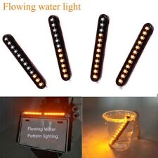 Turn Signal Light Water Flowing 12 LED Car Strips Motorcycle Amber Sequential ~