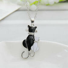 Fashion Women Girl Elegant Animal Cat Pendant Sweaters Chain Necklace Jewelry