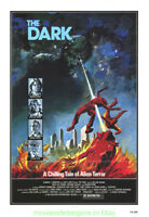 THE DARK aka ALIEN TERROR MOVIE POSTER VF Original 27x41 Folded 1979 HORROR Film