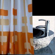 Orange Pendant Square Art Shower Curtain New 2m Long Free Shipping