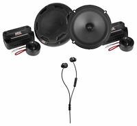 "Pair MTX THUNDER61 6.5"" 360w Car Audio Component Speakers+Beyerdynamic Earbuds"