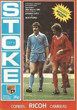 Stoke City v Watford - Div 1 - 26/3/1983 - Football Programme