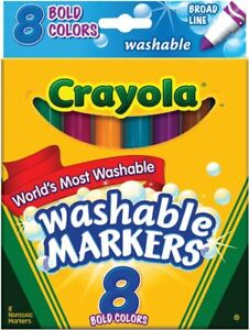 New Crayola 8ct Washable Bold Markers