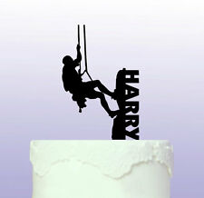 Personalised Rock Climbing Acrylic Cake Topper