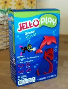 NEW Jell-O Play Fish Dolphin Shark Starfish Ocean Cookie Cutters Kit Jello Kids