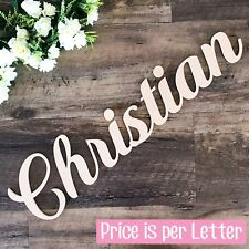 WOODEN LETTERS 30cm HIGH create personalised custom cut names & words home decor
