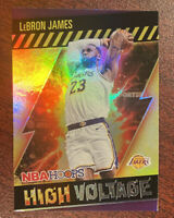 2020-21 NBA Hoops LeBron James High Voltage Holo Insert Lakers