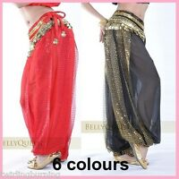 AU Sz 8-18 Belly Dance Harem Pants Chiffon Bollywood Dancing Costume AP06+AB02