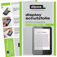 2x Folie für Tolino Vision HD4 Schutzfolie matt Displayschutzfolie Folie dipos