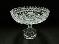 "American Brilliant (ABP) Heavy Cut Glass Footed Step-Cut 6"" Candy Compote"