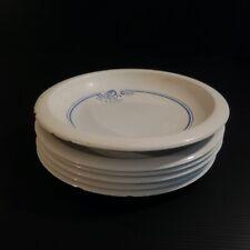 6 assiettes porcelain BOCH Manufacture Royale Louvière BELGIUM art nouveau N4566