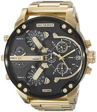 Diesel DZ7333 Mr. Daddy 2.0 Gold Toned Black Dial Quartz Men's Watch