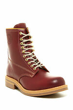 DIESEL Skillo Work Casual Boots Men's Leather Oxblood Red 10 M NIB