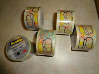 LOT OF FIVE 5 ROLLS OF NEW NIP SCOTCH EXPRESSIONS WASHI TAPE 1.18 in X 393 in @@