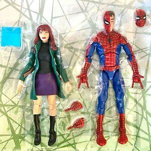 MJ WATSON & SPIDERMAN PETER PARKER retro - Marvel Legends Spider-Man No BAF