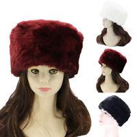 ALS_ CW_ AU_ Women Men Russian Thick Fluffy Faux Fur Hat Russian Cossak Winter S
