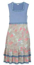 Sheego Kleid Gr.50 Sommerkleid Midikleid Stretchkleid Tunikakleid Damen blau