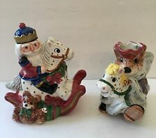 Fitz And Floyd Nutcracker Sweets Rat King Sugar And Creamer With Box 1992