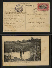 Belgian Congo , Boma post card to Belgium native women         MS0126