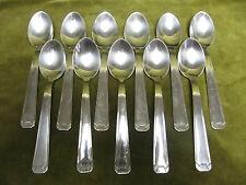 11 cuillères à glace métal argenté art deco  (ice cream spoons) HM