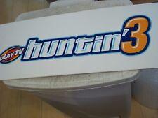 "HUNTIN' 3 PLAY TV RADICA GAME LAMINATED FOAM BOARD DISPLAY SIGN 23""x8"""