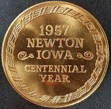 1957 Newton, Iowa Centennial Year brass token! 2nd edition! 39 mm!