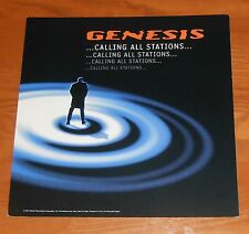 Genesis Calling All Stations Poster 2-Sided Flat 1997 Promo 12x12 Phil Collins