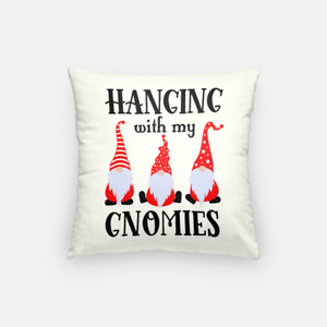 Hangin' With My Gnomies | Pillow Case | Holiday Christmas