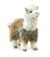 Alpaca Hand Puppet with Movable Mouth, Folkmanis MPN 2953, Boys & Girls, 3 & Up