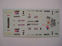 DECALS KIT 1/43 CADILLAC LMP NORTHSTAR N. 2 TEAM CADILLAC LE MANS 2000