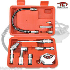 TOOLUXE LUBRICATION AID KIT GREASE GUN HOSE FITTINGS ZERK INJECTOR NEEDLE 61077L
