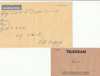 Postmark 1961 New South Wales Telegram from Sydney Paramount Pictures to Davies