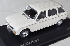 Peugeot 304 break 1972 blanco 1:43 Minichamps nuevo & OVP 400112711