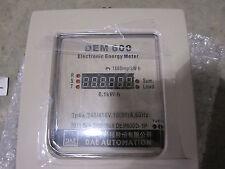 DEM 600 DAE DEM600D 3 PHASE ELECTRONIC ENERGY METER 4W 42-/416V 10(50)A 60Hz