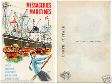 Messageries Maritimes.publicité.bateau.advertiseur.Maritimes messaging.A.BRENET.