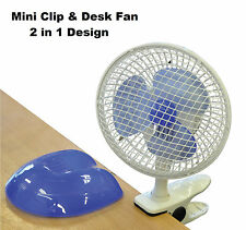 "Prem-I-Air Quality 6"" (15 cm) Mini Clip and Home Work Office Desk Fan 2 in 1"