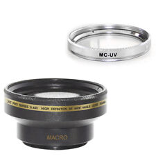30mm Wide Angle Lens + Macro + MCUV Filter for Sony PC100, PC110,PC115,HDR-SR10E
