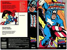 BETA- Captain America- Marvel Comics 03- 1985- Origin- 60 min. -Plastic box