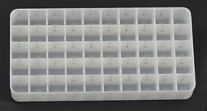 Ammo Ammunition Bullet Re-loading Tray/Insert/Holder Plastic White lot of 35
