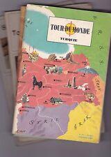 """Lot de livrets d'images à collectionner """"Tour du monde"""""""