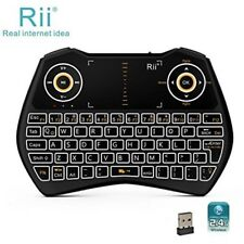Rii i28C 3 In 1 Backlit Wireless Mini Keyboard Touchpad Rechargable
