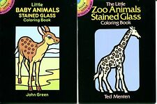 Little Baby Animals & Zoo Animals Stained Glass Coloring Books (Dover Paperback)