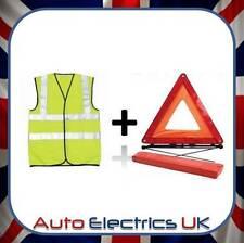 Haute visibilité gilet & grand avertissement voiture triangle réfléchissant ventilation hazard