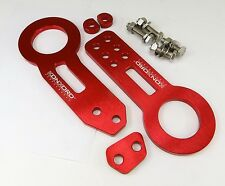 KONKORD Billet Aluminum Racing Front Rear Tow Hook Kit CNC JDM Anodized Red