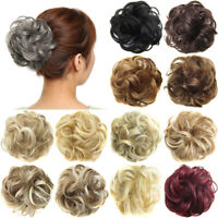 Synthetic Hair Flexible Scrunchie Cover Wrap On Wave Curly Hair Bun Ponytails