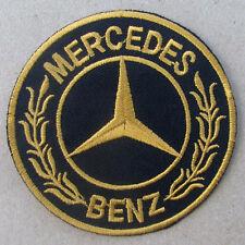 MERCEDES BENZ Advertising Iron on Patch Gold CLA CLS AMG GT S GLA GLK SL SLK GL