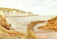 Isle of Wight Art Postcard, Alum Bay by Muriel Owen FM0