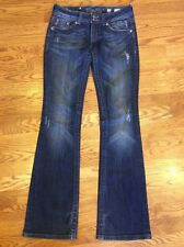 Women Miss Me Signature Boot Stretch Jeans 26 Embroidered Rhinestones JP5144B