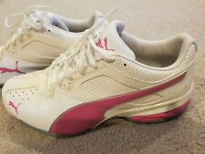 Womens Puma 9.5 Pink and White Tennis Shoes with soft foam comfort insert